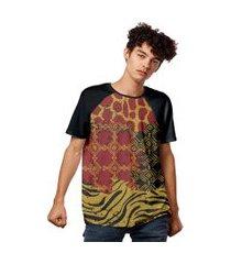 camiseta geometric animals style