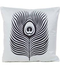 satén de seda de la serie blanco y negro funda de almohada fundas de c