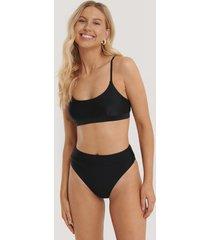 na-kd swimwear maxi highwaist bikini panty - black