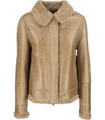 brunello cucinelli jacket with sheepskin fur