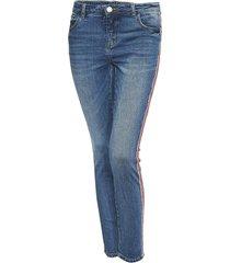 opus skinny jeans ely red stripe