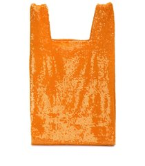 ashish sequin slouchy tote - orange