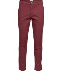 slhstraight-paris pants w noos chinos byxor röd selected homme