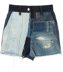 dolce & gabbana patchwork denim shorts