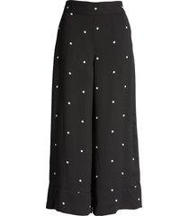 women's halogen soft crop flare pants, size small - black