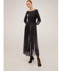 geplooide metallic jurk