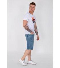 bermuda jeans equivoco masculina