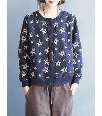 stivali casual stampati pullover giacche da donna