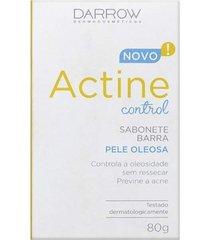 darrow actine control sabonete pele oleosa 80g - multicolorido - dafiti