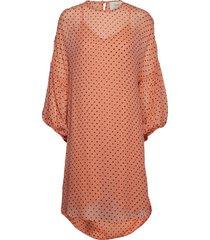 alina jurk knielengte oranje munthe