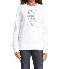 ted baker london jesika slogan sweatshirt, size 4 in white at nordstrom