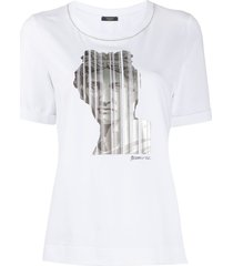 peserico statue head print t-shirt - white