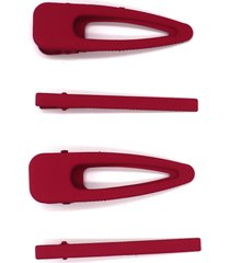 natasha 4-pack matte hair clips