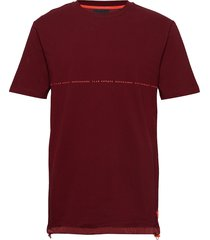 club nomade signature pique tee in over fit t-shirts short-sleeved röd scotch & soda