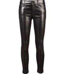 rta coated skinny trousers - black