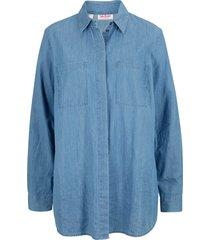 camicia di jeans lunga (blu) - john baner jeanswear