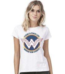 camiseta bandup wonder woman warrior demi goddess