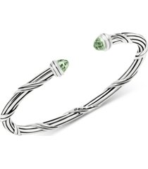 peter thomas roth green quartz cuff bracelet (2-1/3 ct. t.w.) in sterling silver