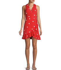 madison polka-dot wrap dress