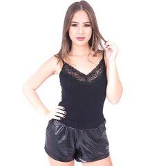 body up side wear de renda preto