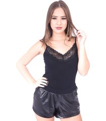 body up side wear de renda preto