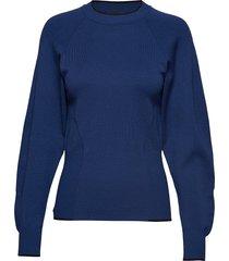 adatto stickad tröja blå sportmax code