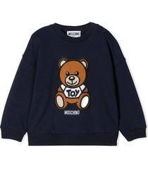 moschino blue cotton and wool sweatshirt