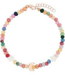 roxanne first 14kt rose gold mother-of-pearl bracelet - pink