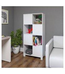 estante armário artany wally home office 4 portas 8 nichos