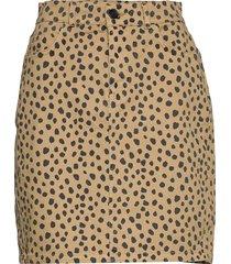 fresh organic print sissy kort kjol beige mads nørgaard