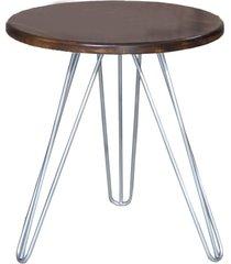 mesa de canto pé prateado c&m decor