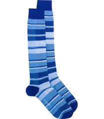 marni ribbed striped mid-length socks - blue