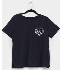 camiseta enfim ampla feminina - feminino
