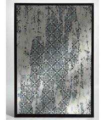 lustro z przecierką 120x80cm turkus