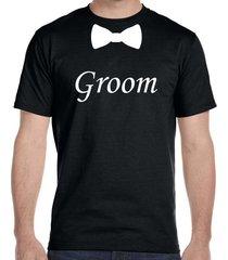 groom bow tie, wedding t-shirt