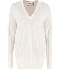 plan c ribbed wool pullover