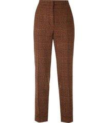 eva tweed straight trousers - orange