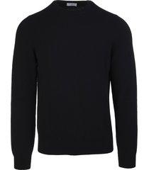 fedeli man black cashmere round neck pullover