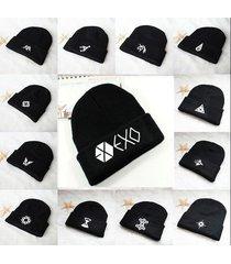 exo m k cap knit beanie hat kpop luhan adjustable winter snapback constellation