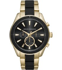 ax armani exchange men's chronograph two-tone stainless steel bracelet watch 46mm