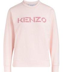 kenzo logo pink sweatshirt