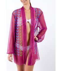 palmera beachwear nicte long sleeve kimono women's swimsuit