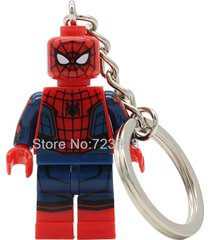 sa 1pc spider man key chain ends of the earth silk minifigure building lego bloc