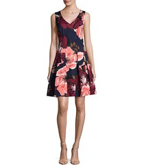 devoted floral fit-&-flare dress