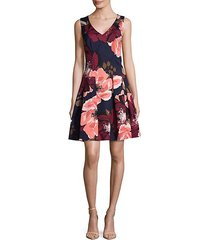 floral fit-&-flare dress