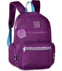 mochila infantil para notebook rebecca bonbon feminina