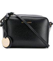 emporio armani bolsa câmera texturizada - preto