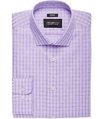 awearness by kenneth cole lavender plaid slim fit dress shirt