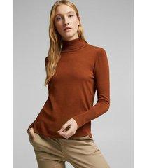 sweater cuello alto marrón esprit