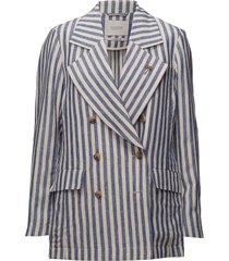 double breasted coat blazer colbert blauw scotch & soda